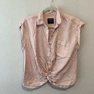 Abercrombie and Fitch Knot Front Button Down Shirt